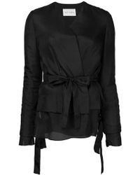 Ms Min - Layered Belt Jacket - Lyst