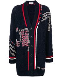 Valentino - Logo Embroidered Cardigan - Lyst