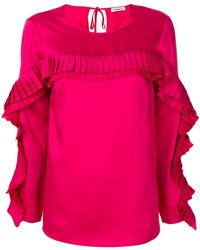 P.A.R.O.S.H. - 3d Pleated Panel Top - Lyst