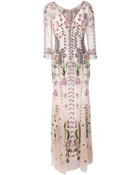 Temperley London - Floral Embroidered Evening Dress - Lyst