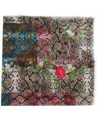 Preen By Thornton Bregazzi - Monica Snakeskin Print Scarf - Lyst