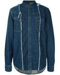 Sacai - Panelled Denim Shirt - Lyst