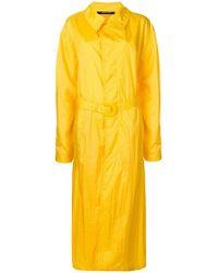 Maison Margiela - Long Belted Raincoat - Lyst