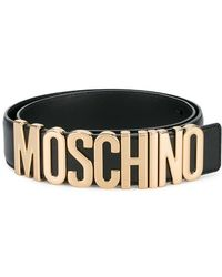 Moschino - Logo Belt With Gold-tone Hardware - Lyst