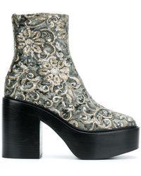 A.F.Vandevorst - Embroidered Platform Boots - Lyst