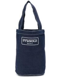 Miaou - Bolso shopper con logo bordado - Lyst