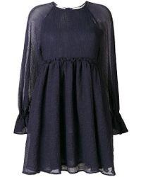 Maison Kitsuné - Short Longsleeved Dress - Lyst