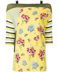 I'm Isola Marras - Floral Patch-work Blouse - Lyst