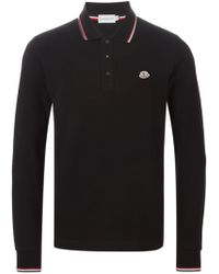 134467543cbc Lyst - Moncler Tipped Piqué Polo Shirt in White for Men