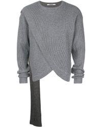 Chalayan - Gerippter Pullover in Wickeloptik - Lyst