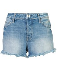 PAIGE - Emmit Denim Shorts - Lyst