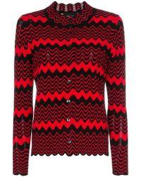 Simone Rocha - Button Up Wave Knit Scalloped Cardigan - Lyst