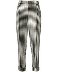 ODEEH - Checked Tapered Trousers - Lyst