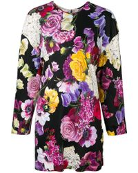 Dolce & Gabbana - Floral Long-sleeve Blouse - Lyst