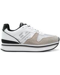 Emporio Armani - Platform Runner Sneakers - Lyst