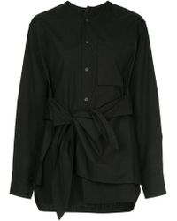 Y's Yohji Yamamoto - Knot Detail Shirt - Lyst