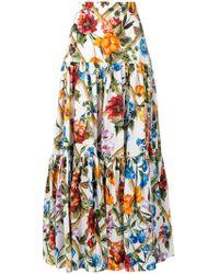 Dolce & Gabbana - Floral Print Long Skirt - Lyst