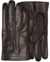 Prada - Leather And Cashmere Gloves - Lyst