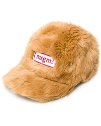 MSGM - Furry Cap - Lyst