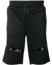Philipp Plein - Shorts deportivos con paneles en contraste - Lyst