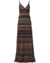 M Missoni | Striped Maxi Dress | Lyst