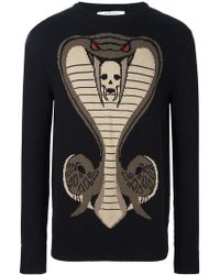 Givenchy | Cobra Knitted Jumper | Lyst