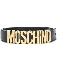 Moschino - Logo Plaque Belt - Lyst