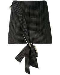 Anna K - Front Knot Mini Skirt - Lyst