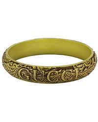 Gucci - Logo Carved Bangle - Lyst