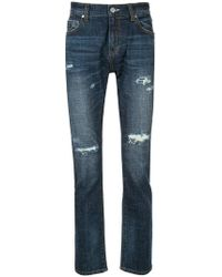 Loveless - Distressed Jeans - Lyst