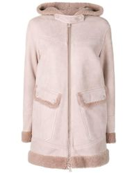 Bally - Shearling Parka Coat - Lyst