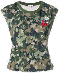Manoush | Floral Camo T-shirt | Lyst