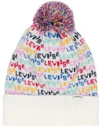 f3c9e7aedef Vans Logo Knit Bobble Hat in Black for Men - Lyst