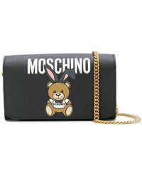 Moschino | Teddy Playboy Wallet On Chain | Lyst