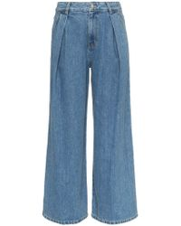 SJYP - High Waisted Wide Leg Jeans - Lyst