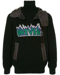 Kolor - Patch Hooded Sweater - Lyst