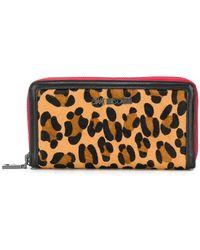 Love Moschino - Leopard Print Zip-around Wallet - Lyst
