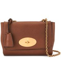 27589e420ade Mulberry Lily Gray Soft Grain Leather with Soft Gold Shoulder Bag in ...
