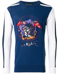 Versace - Medusa Embroidered Sweatshirt - Lyst