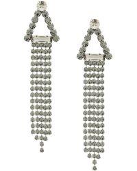 Alberta Ferretti - Embellished Dangly Earrings - Lyst