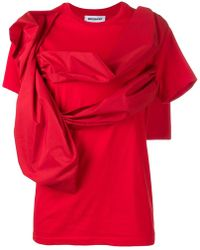 BROGNANO - Draped Front T-shirt - Lyst