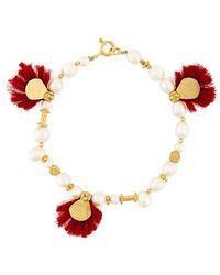 Katerina Makriyianni - Tassle Pearl Bracelet - Lyst