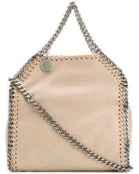 6d27e261b395 Stella McCartney Falabella Metallic Crackle Tiny Tote Bag in Blue - Lyst