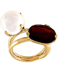 Wouters & Hendrix - 'my Favourite' Red Agate And Pearl Ring - Lyst