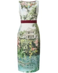Antonio Marras - Floral Fitted Midi Dress - Lyst