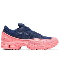 4d8743d3b adidas By Raf Simons - Pink And Blue Ozweego Leather Sneakers - Lyst