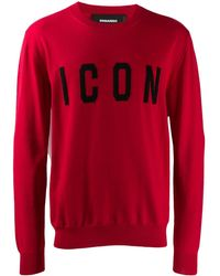 DSquared² Icon トップ - レッド