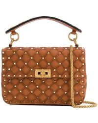 3e8d50dd85 Valentino Small Rockstud Spike Bag in Red - Lyst
