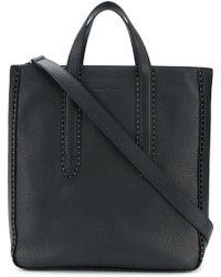 Ferragamo - Leather Tote Bag - Lyst
