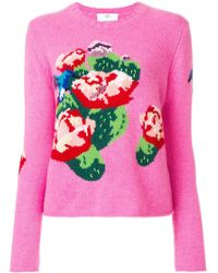 Allude - Floral Knit Jumper - Lyst